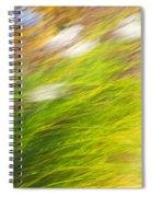 Urban Nature Fall Grass Abstract Spiral Notebook