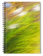 Urban Nature Fall Grass Abstract Spiral Notebook
