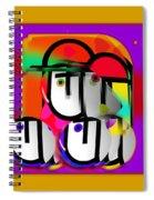 Urban Spaceman Spiral Notebook