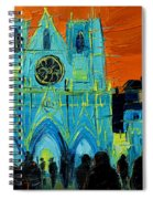 Urban Story - The Festival Of Lights In Lyon Spiral Notebook
