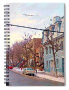 Urban Winter Landscape Colors Of Quebec Cold Day Pointe St Charles Street Scene Montreal  Spiral Notebook