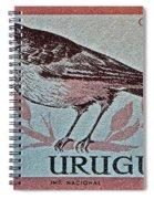 Uruguay Bird Stamp - Circa 1962 Spiral Notebook