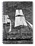Us Brig Niagra Texture Overlay Bw Spiral Notebook