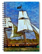 Us Brig Niagra Texture Overlay Spiral Notebook