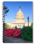 Us Capitol And Red Azaleas Spiral Notebook
