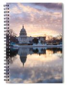 Washington Dc Us Capitol Building At Sunrise Spiral Notebook