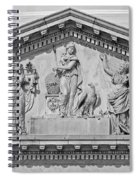 Us Capitol Building Facade- Black And White Spiral Notebook