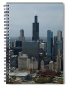 Us Cellular And Wrigley Field Chicago Baseball Parks 3 Panel Composite 02 Spiral Notebook