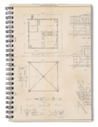 U.s. Coast Guard Drawing Of A Screw Pile Lighthouse Spiral Notebook