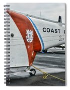 Us Coast Guard Helicopter Spiral Notebook