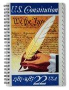 Us Constitution Stamp Spiral Notebook