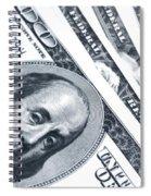 Us Dollar Bills  Spiral Notebook