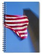 Us Flag At Washington Monument At Dusk Spiral Notebook