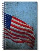 Us Flag -blue Antiqued Spiral Notebook