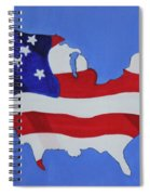 Us Flag Spiral Notebook