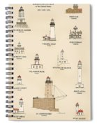 Lighthouses Of The West Coast Spiral Notebook