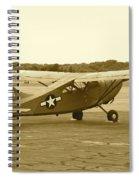 U.s. Military Recon Single Engine Plane Spiral Notebook