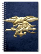 U. S. Navy S E A Ls Emblem On Blue Velvet Spiral Notebook