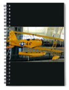 U.s. Navy Yellow Peril Float Biplane Spiral Notebook