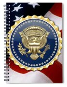 Presidential Service Badge - P S B Over American Flag Spiral Notebook