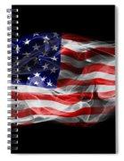 Usa Flag Smoke  Spiral Notebook