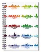 Usa Skylines Spiral Notebook