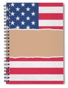 Usa Wrapping Paper Torn Through The Centre Spiral Notebook