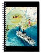 Uscg Chase Helicopter Chart Map Art Peek Spiral Notebook