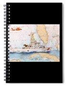Uscg Sapelo Helicopter Fl Nautical Chart Map Art Peek Spiral Notebook