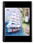 Uscg Tall Ship Eagle Chart Art Peek Spiral Notebook