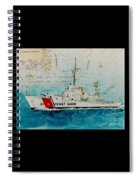 Uscgc Bibb Nautical Chart Cathy Peek Spiral Notebook