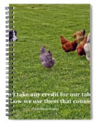 Using Talents Spiral Notebook