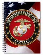 U S M C Eagle Globe And Anchor - E G A Over American Flag. Spiral Notebook