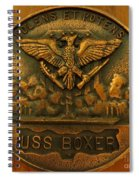 Uss Boxer Plaque Spiral Notebook