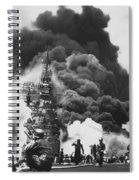 Uss Bunker Hill Kamikaze Attack  Spiral Notebook