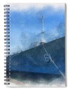 Uss Iowa Battleship Starboard Side Photo Art 01 Spiral Notebook