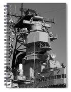 Uss Iowa Battleship Starboardside Bridge 02 Bw Spiral Notebook