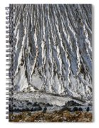 Utah Copper Mine Tailings Pile In Winter Spiral Notebook