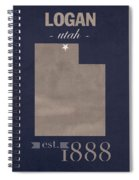 Utah State University Aggies Logan College Town State Map Poster Series No 117 Spiral Notebook