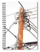 Utility Pole Hung With Electricity Power Cables Spiral Notebook