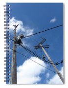 Utility Poles And Clouds 2 Spiral Notebook