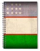 Uzbekistan Flag Vintage Distressed Finish Spiral Notebook
