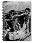 V-twin Engine Spiral Notebook