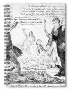 Vaccination Cartoon, 1808 Spiral Notebook