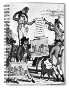 Vaccination Cartoon, C1800 Spiral Notebook