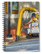 Vacuuming The Sidewalk Spiral Notebook
