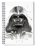 Darth Vader Watercolor Spiral Notebook