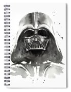 Darth Vader Watercolor Spiral Notebook