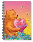 Valentine Baby Bear Spiral Notebook