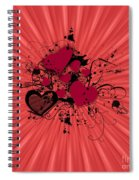 Valentine Day Illustration Spiral Notebook
